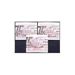BÉLGICA (1988). 1913-1988. Serie 3 val., matasello