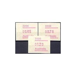 AUSTRALIA (1994). Warath - 3000. Serie 3 val.