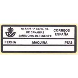 ESPAÑA (1989). EPC 23 - 40 ANIV. EXPO. CANARIAS. Etiqueta blanco