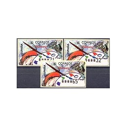 ESPAÑA. 18.1. Pintura. PTS-6A. Serie 3 val. (1997)
