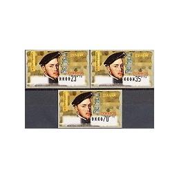 ESPAÑA. 28. Felipe II. PTS-6E. Serie 3 val.