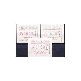 SWA (1988). Emblema postal - PT.01. Serie 3 val.