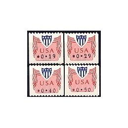 EEUU (1992). Símbolo USA (1). Serie 4 val.