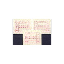 SUIZA (1990). Emblema postal. Serie 3 val.