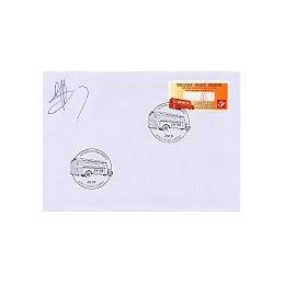 BÉLGICA (2010). Vehículos postales (2). Sobre primer día (firma)