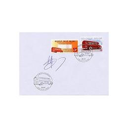 BÉLGICA (2010). Vehículos postales (2). Sobre primer día (sello)