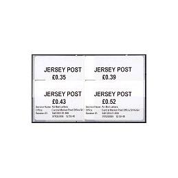 JERSEY (2009). Básica (1.1) - Postal HQ. Serie 4 val.