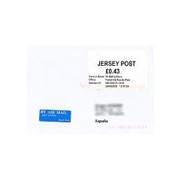 JERSEY (2009). Básica (1.1) - Postal HQ. Sobre a España