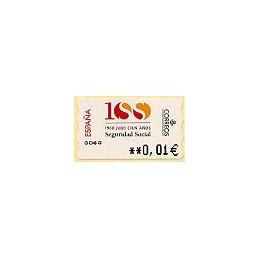 ESPAÑA. 41E. Seguridad Social. EUR-5A. ATM nuevo (0,01)