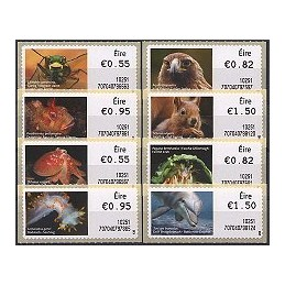 IRLANDA (2010). Animales Irlanda - 70704. Serie 8 val. (1r. día)