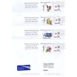 IRLANDA (2010). Flores - 103602. Sobres a España