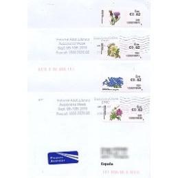 IRLANDA (2010). Flores - 123302. Sobres a España