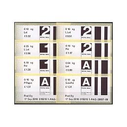 R. UNIDO (2010). Post&Go (2) - 015010 4. Serie 8 val.