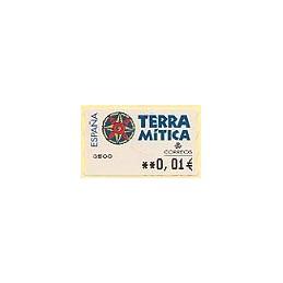ESPAÑA. 49E. Terra Mitica. EUR-5A. ATM nuevo (0,01)
