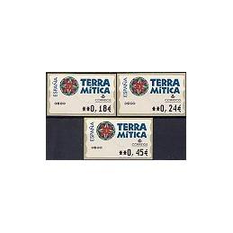 ESPAÑA. 49E. Terra Mitica. EUR-5A. Serie 3 val.