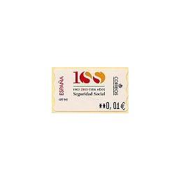 ESPAÑA. 41E. Seguridad Social. EUR-5E. ATM nuevo (0,01)