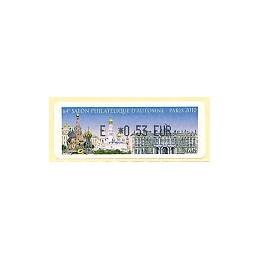 FRANCIA (2010). 64 Salon - Rusia. ATM nuevo (E 0,53)