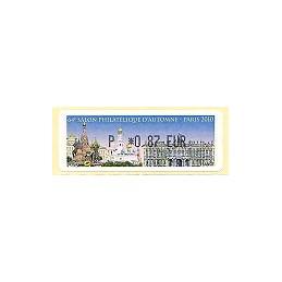 FRANCIA (2010). 64 Salon - Rusia. ATM nuevo (P 0,87)
