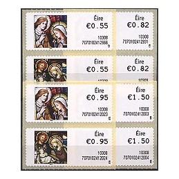 IRLANDA (2010). Navidad - 70701. Serie 8 val. (1er. día)