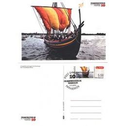 DINAMARCA (2010). Roskilde - Barco vikingo. Tarjeta