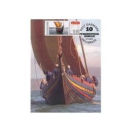 DINAMARCA (2010). Roskilde - Barco vikingo. Tarjeta máxima (2)