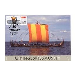 DINAMARCA (2010). Roskilde - Barco vikingo. Tarjeta máxima (3)