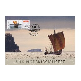 DINAMARCA (2010). Roskilde - Barco vikingo. Tarjeta máxima (5)