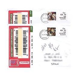 IRLANDA (2010). Navidad - 70701. Sobres España - EXPRESS (1er. d