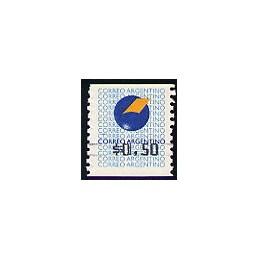 ARGENTINA (1995). Emblema postal. ATM nuevo ($0.50)