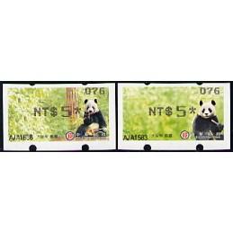 TAIWÁN (2010). Osos panda - negro. ATMs nuevos (076)