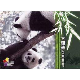 TAIWÁN (2010). Osos panda - negro + azul + rojo. Carpeta (100)