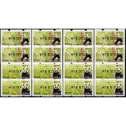 TAIWÁN (2010). Osos panda - negro. Serie 16 val. (102)
