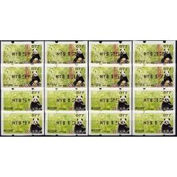 TAIWÁN (2010). Osos panda - negro. Serie 16 val. (106)