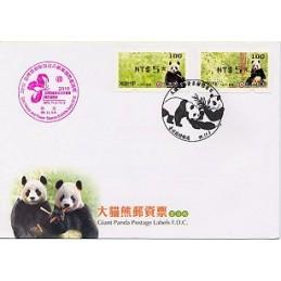 TAIWÁN (2010). Osos panda - negro. Sobre primer día (100)