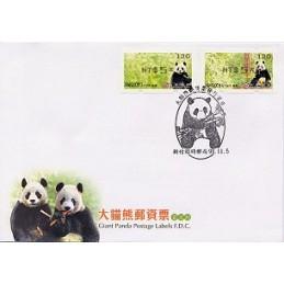 TAIWÁN (2010). Osos panda - negro. Sobre primer día (106)