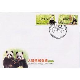 TAIWÁN (2010). Osos panda - negro. Sobre primer día (120)