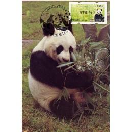 TAIWÁN (2010). Osos panda - negro. Tarjeta máxima (122) *