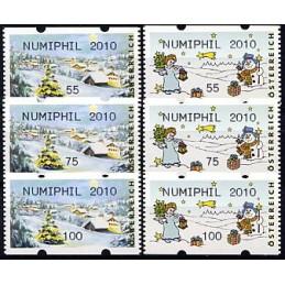 AUSTRIA (2010). NUMIPHIL 2010 (Inv. 3). Series 3 val.
