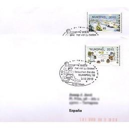 AUSTRIA (2010). NUMIPHIL 2010 (Inv. 3). Sobres P.D. (España)