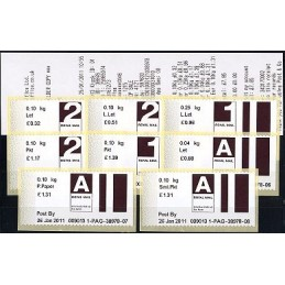 R. UNIDO (2011). Post&Go (2) - 009013 1. Serie 8 val. + rec.