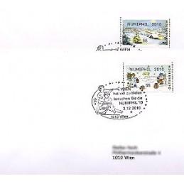 AUSTRIA (2010). NUMIPHIL 2010 (Inv. 3). Sobres P.D.