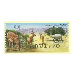 ISRAEL (2011). Mamíferos ungulados - 010. ATM nuevo