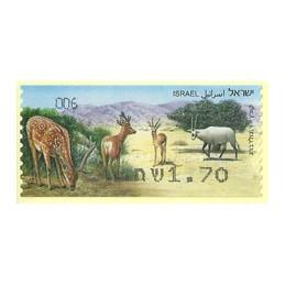 ISRAEL (2011). Mamíferos ungulados - 006. ATM nuevo
