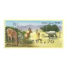 ISRAEL (2011). Mamíferos ungulados - 011. ATM nuevo