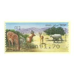 ISRAEL (2011). Mamíferos ungulados - 012. ATM nuevo