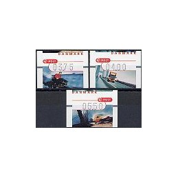 DINAMARCA (2002). Transporte del correo. Serie 3 val.