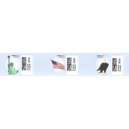 EEUU (2010). 1751. Motivos patrióticos. Etiquetas test (VOID)