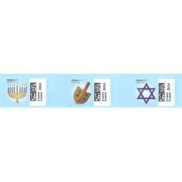 EEUU (2010). 1753. Hanukkah. Etiquetas test (VOID)