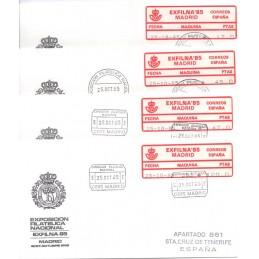 ESPAÑA (1985). 02. EXFILNA 85 - 283. Sobres (serie)