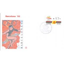 ESPAÑA. 5.1. BARCELONA 92 - 3 dígitos. Sobre - Inauguración